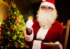 Santa sweet tooth Royalty Free Stock Images