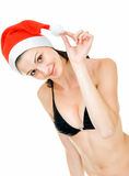 Santa in swimsuit Royalty Free Stock Photography