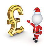 Santa with a symbol of dollar. Isolated on white background.3d rendered Stock Photography