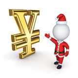 Santa with a symbol of dollar. Stock Photo