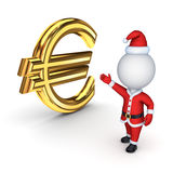 Santa with a symbol of dollar. Stock Images