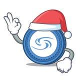Santa Syscoin mascot cartoon style. Vector illustration Stock Image