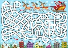 Santa szuka dla miasta ilustracji