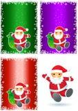 Santa tła set Zdjęcie Stock