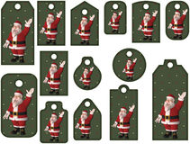 Santa tags or bookmarks Stock Photos