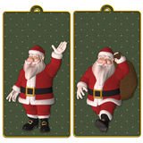 Santa tags or bookmarks Royalty Free Stock Photos