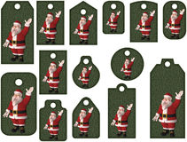 Santa tags or labels. Isolated on white Stock Illustration