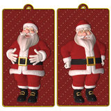 Santa tags or labels Stock Image
