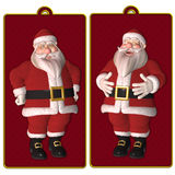 Santa tags or labels. Isolated on white Royalty Free Illustration