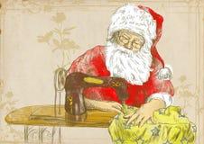 Santa tailor Stock Image