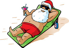 Santa takes a vacation Stock Photo