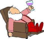 Santa taking a break Royalty Free Stock Photography