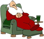 Santa Taking A Nap Royalty Free Stock Photo