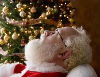 Santa Taking A Nap Royalty Free Stock Photography