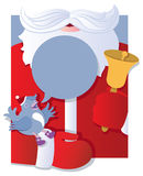 Santa with talking bird royalty free stock image