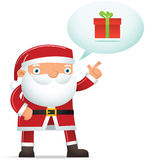 Santa Talking about gift Stock Images