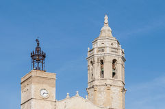Santa Tecla church in Sitges, Spain Stock Image