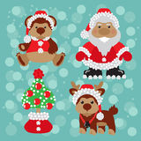 Santa with teddy Royalty Free Stock Photos