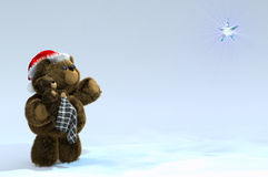Santa Teddy with Baby Stock Photo