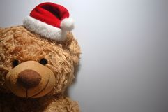 Santa Teddy Bear Royalty-vrije Stock Foto
