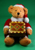Santa Teddy Bear. Stuffed Christmas toy animal Santa Royalty Free Stock Images