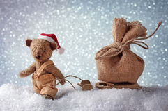 Santa teddy bear Stock Image