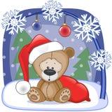 Santa Teddy Bear Photos libres de droits