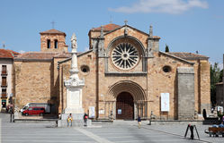 Santa Teresa Cathedral in Avila, Spain Stock Photography