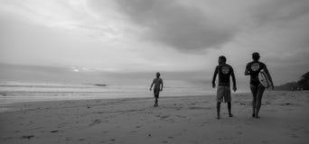 Santa Teresa, Costa Rica. Santa Teresa beach, Costa Rica. Black and white shot. Photo taken on: September, 2015 royalty free stock photo