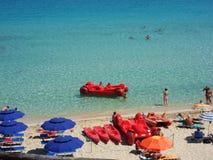 Santa Teresa Gallura - Rena Bianca Beach Royaltyfri Fotografi