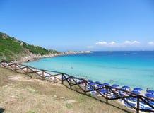 Santa Teresa Gallura - Rena Bianca Beach Royaltyfria Bilder
