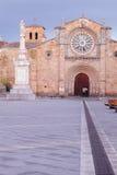Santa Teresa Square, Church of San Pedro, Avila Stock Images