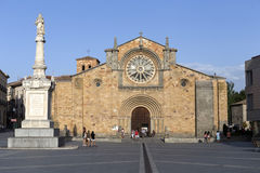 Santa Teresa Square, Church of San Pedro, Avila Stock Photography