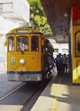 Santa Teresa Tram i Rio de Janeiro arkivbilder