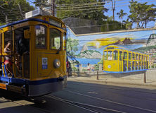 Santa Teresa Tram in Rio stock photos