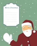 Santa with text banner Royalty Free Stock Photography