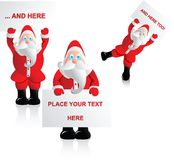 Santa with text box Stock Image