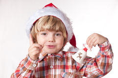 Santa, think well what will be my gift Royalty Free Stock Image