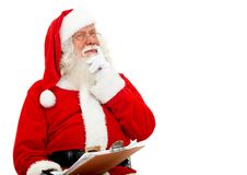 Santa thinking Royalty Free Stock Photos