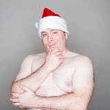 Santa is thinking Stock Photography