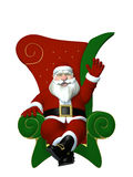 Santa on Throne - Waving Royalty Free Stock Photo