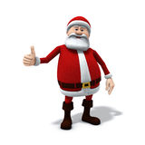 Santa thumbs up. 3d rendering/illustration of a cartoon santa with thumbs up gesture Royalty Free Stock Images
