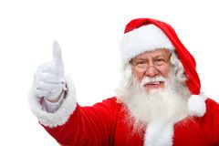 Santa with thumbs up Royalty Free Stock Photo