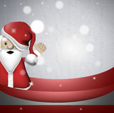 Santa thumbs up Stock Photo