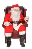 Santa toasting Stock Photography
