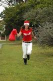 Santa tocznej kobieta hat Zdjęcie Royalty Free