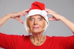 Santa torpe Foto de archivo libre de regalías