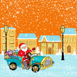 Santa in town Stock Images