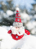 Santa toy in snowdrift Royalty Free Stock Images