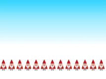Santa tradycyjny ścieg Zdjęcie Royalty Free